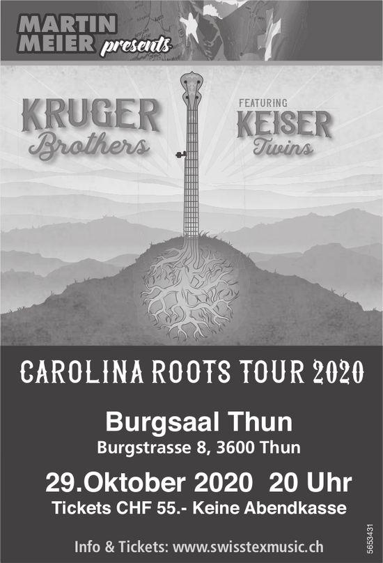 Martin Meier presents Carolina Roots Tour 2020, 29. Oktober, Thun
