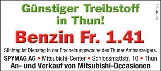 SPYMAG AG, Thun - Günstiger Treibstoff in Thun! Benzin Fr. 1.41