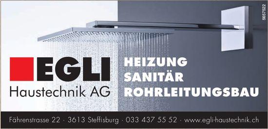 Egli Haustechnik AG, Steffisburg - Heizung, Sanitär, Rohrleitungsbau