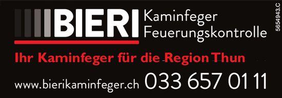 Bieri Kaminfeger, Thun - Ihr Kaminfeger für die Region Thun