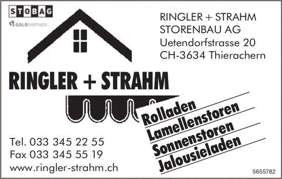 Ringler + Strahm Storenbau AG, Thierachern - Rolladen, Lamellenstoren,  Sonnenstoren,  Jalousieladen