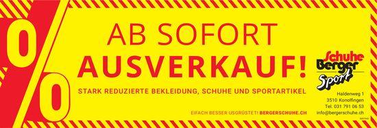 Schuhe Berger Sport, Konolfingen - Ab sofort Ausverkauf!