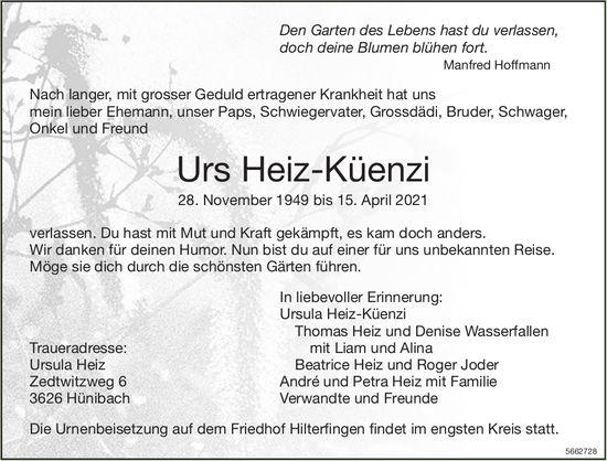 Heiz-Küenzi Urs, April 2021 / TA