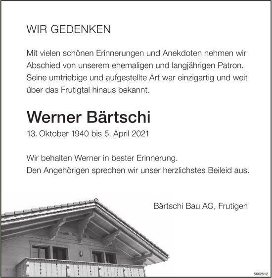 Bärtschi Werner, April 2021 / TA