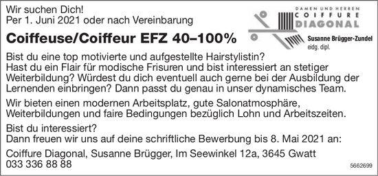 Coiffeuse/Coiffeur EFZ 40–100%, Coiffure Diagonal, Gwatt, gesucht