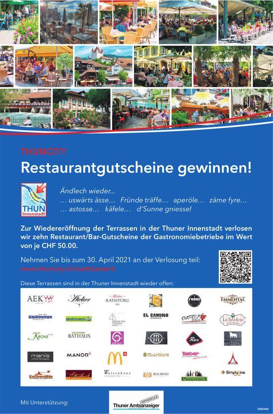 Thuncity -  Restaurantgutscheine gewinnen!