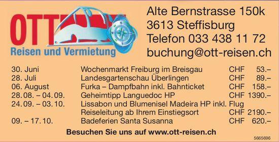 Ott Reisen - Programm & Events
