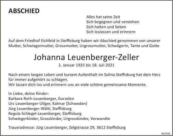 Leuenberger-Zeller Johanna, Juli 2021 / TA