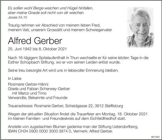 Gerber Alfred, Oktober 2021 / TA