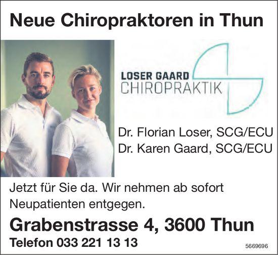 Loser Gaard Chiropraktik, Thun - Neue Chiropraktoren in Thun