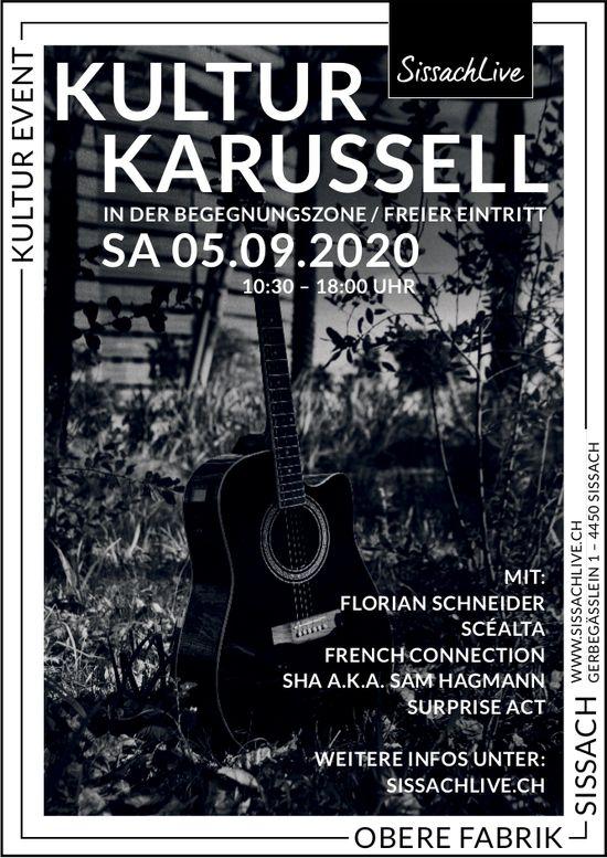 Kultur Karussell, 5. September, Obere Fabrik, Sissach,
