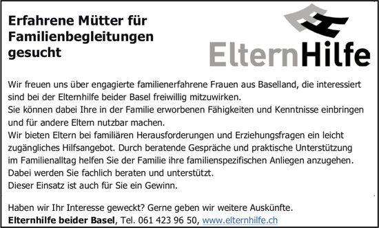 Erfahrene Mütter für Familienbegleitungen, Eltern Hilfe, Basel,  gesucht