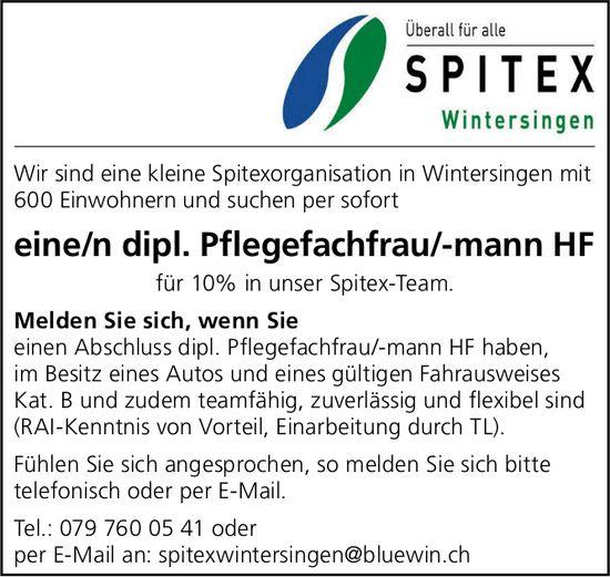 Pflegefachfrau/-mann HF, Spitex Wintersingen, gesucht