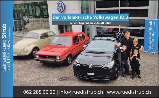Garage Ruedi Strub, Buckten - Der vollelektrische VW ID.3