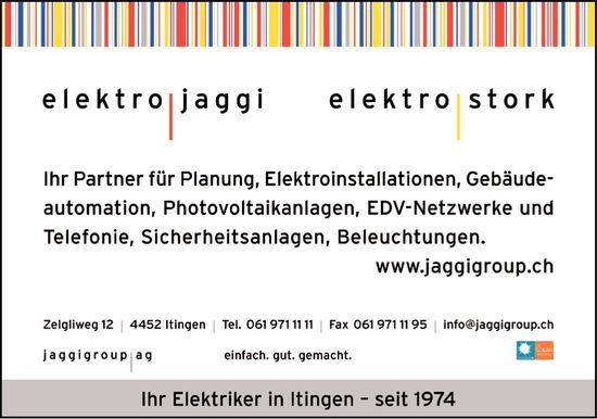 Elektro Jaggi, Itingen - Ihr Elektriker in Itingen seit 1974