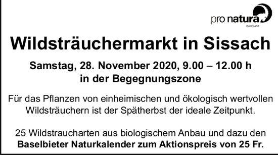 Wildsträuchermarkt am 28. November in Sissach