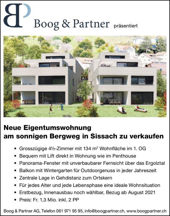 4.5-Zimmer-Eigentumswohnung, Sissach, zu verkaufen
