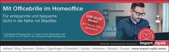 Import Optik, Adliswil - Mit Officebrille im Homeoffice