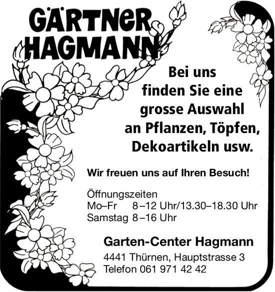Garten-Center Hagmann, Thürnen - Bei uns finden Sie eine grosse Auswahl an Pflanzen, Töpfen, Dekoartikeln usw.