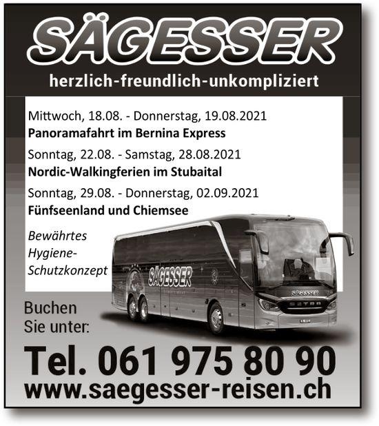 Saegesser Reisen, Wintersingen - Reiseprogramm
