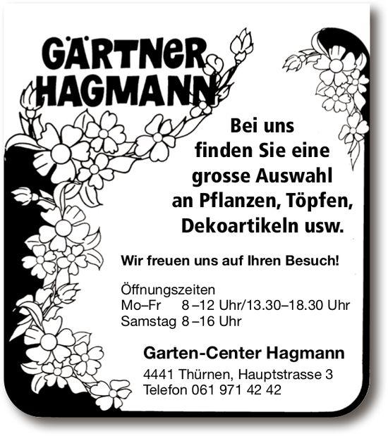 Garten-Center Hagmann, Thürnen - Grosse Auswahl Pflanzen und Töpfe
