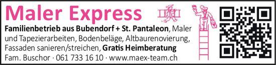 Fam. Buschor, Bubendorf - Maler Express