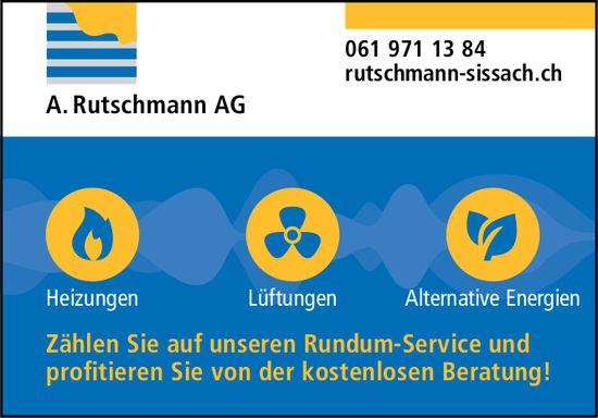 A. Rutschmann AG, Sissach - Heizungen, Lüftungen,  Alternative Energien