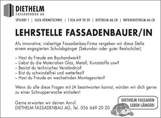 LEHRSTELLE FASSADENBAUER/IN