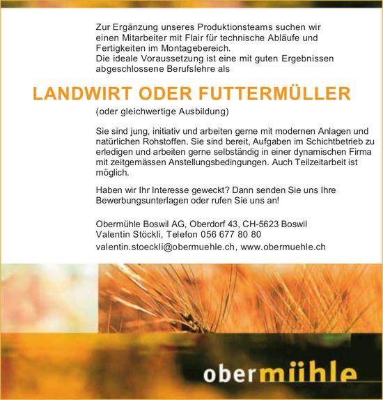 Landwirt Oder Futtermüller gesucht