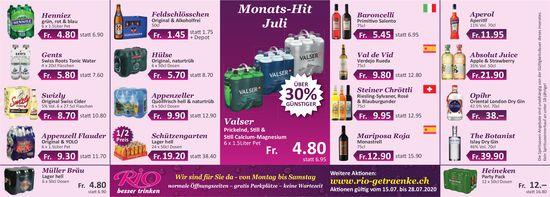 Monats-Hit Juli -Rio Getränkemarkt