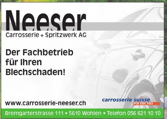 Neeser AG, Wohlen - Der Fachbetrieb für Ihren Blechschaden!