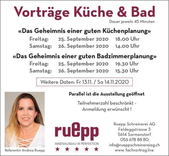 Vorträge Küche & Bad am 25./26. September in Sarmenstorf