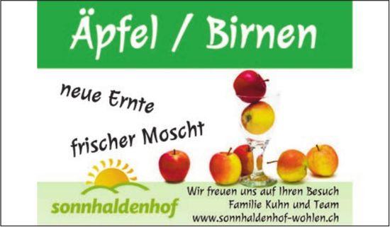 Sonnhaldenhof Wohlen - Äpfel/Birnen