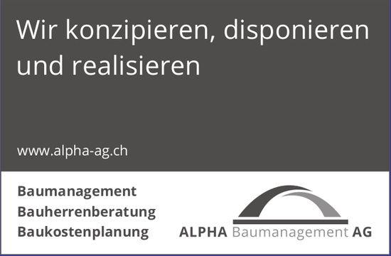 Alpha Baumanagement AG - Wir konzipieren, disponieren und realisieren