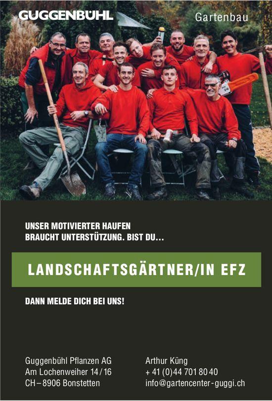 Guggenbühl Pflanzen AG, Bonstetten  - Landschaftsgärtner/in EFZ gesucht