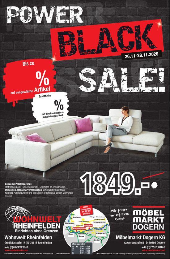 Möbelmarkt Dogern - Power Black Sale