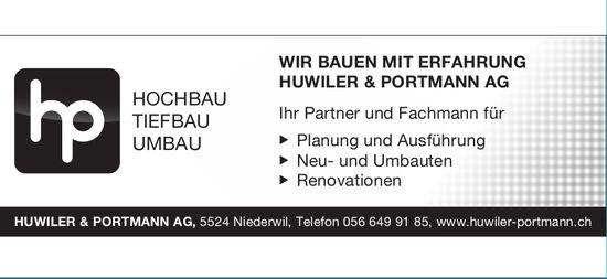 Huwiler & Portmann AG,  Niederwil - Hochbau, Tiefbau, Umbau