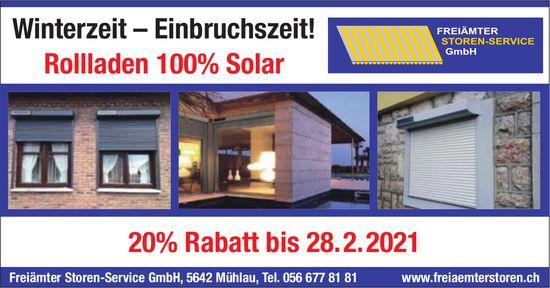 Freiämter Storen-Service GmbH, Mühlau - Winterzeit – Einbruchszeit!