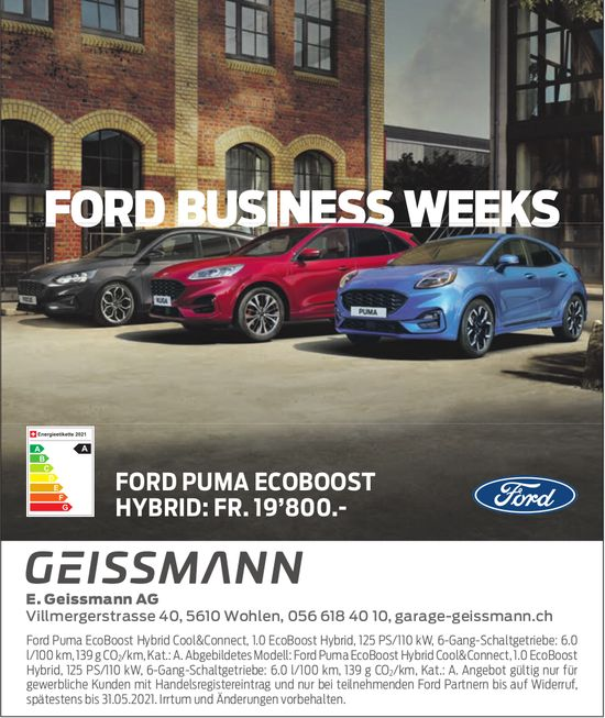 Ford Business Weeks - Geissmann Garage
