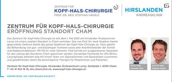 Zentrum Für Kopf-Hals-Chirurgie Eröffnung Standort Cham