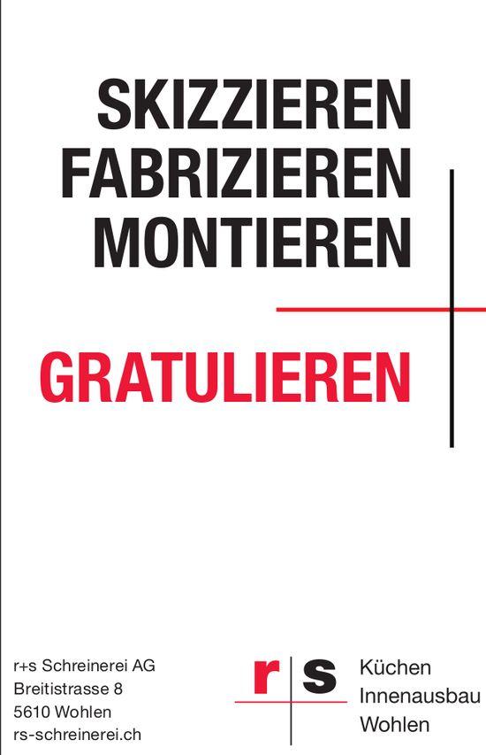 r + s Schreinerei AG in Wohlen