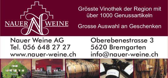 Nauer Weine AG, Bremgarten - Grosse Auswahl