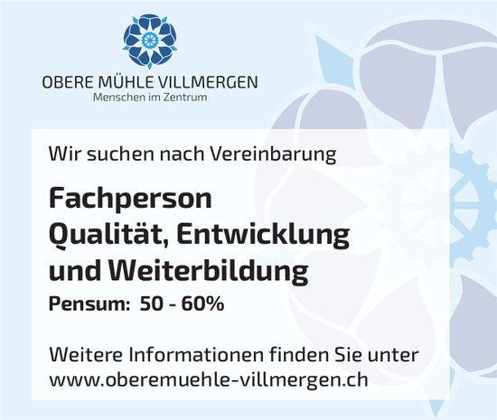 Fachperson Qualität, Entwicklung und Weiterbildung, Obere Mühle,  Menschen im Zentrum, Villmergen,  gesucht