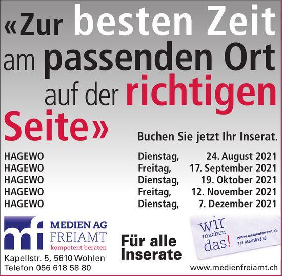 Medien AG Freiamt, Wohlen - Für alle Inserate