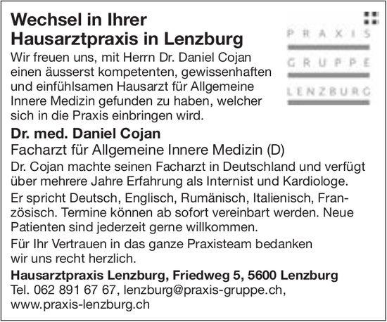 Praxis Lenzburg, Wechsel in Ihrer Hausarztpraxis in Lenzburg