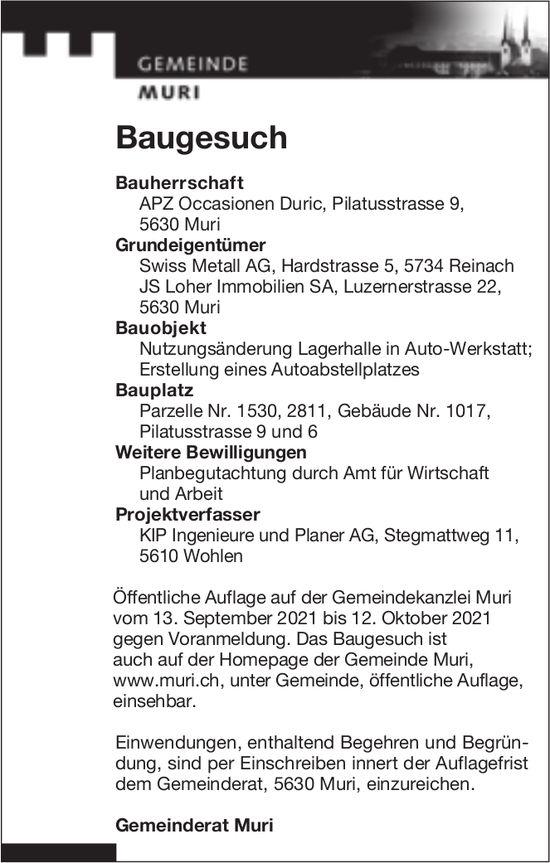 Baugesuche, Muri - Swiss Metall AG