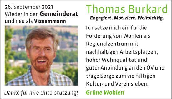 Grüne Wohlen - Thomas Burkard wieder in den Gemeinderat und neu als Vizeamman