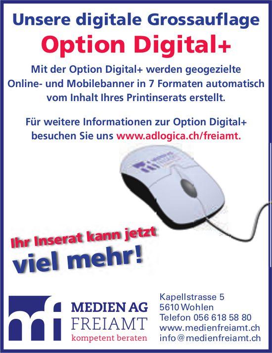 Medien AG Freiamt, Wohlen - Unsere digitale Grossauflage