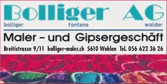 Bolliger AG, Wohlen - Maler- und Gipsergeschäft