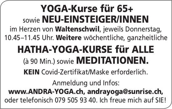Waltenschwil - Yoga-Kurse für 65+